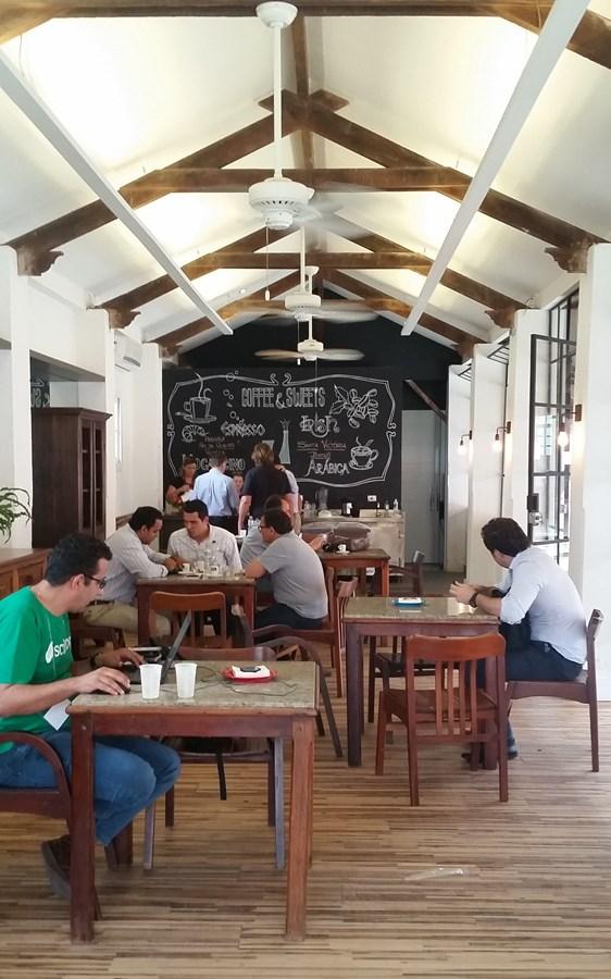 Café instalado na Usina de Inovação Monte Alegre